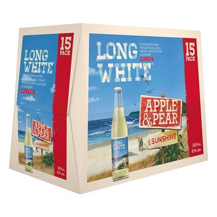 LONG WHITE APPLE & PEAR 15PK BTLS LONG WHITE APPLE & PEAR 15PK BTLS