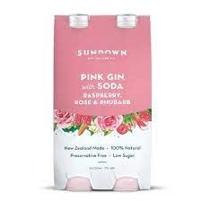 SUNDOWN PINK GIN&SODA 4PK SUNDOWN PINK GIN&SODA 4PK