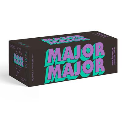 MAJOR MAJOR vodka passionfruit  10X330ML CANS MAJOR MAJOR vodka passionfruit  10X330ML CANS