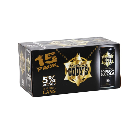 Cody's 5% 15pk Cans