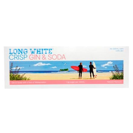 LONG WHITE GIN & SODA WATERMELON 10PK CANS LONG WHITE GIN & SODA WATERMELON 10PK CANS