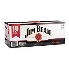 JIM BEAM 10PK CANS COLA JIM BEAM 10PK CANS COLA