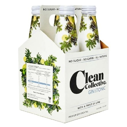 CLEAN COLLECTIVE GIN & TONIC 4PK BOTTLES CLEAN COLLECTIVE GIN & TONIC 4PK BOTTLES