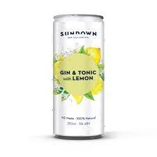 SUNDOWN GIN & TONIC 6PACK CANS SUNDOWN GIN & TONIC 6PACK CANS