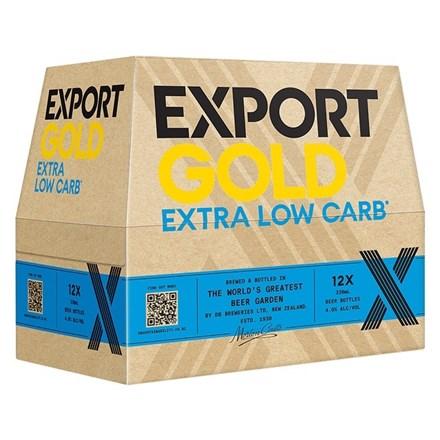 EXPORT GOLD LOW CARBS 12 PK BOTTLES EXPORT GOLD LOW CARBS 12 PK BOTTLES