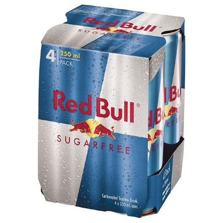 RED BULL ENERGY NO SUGAR 4X25OML CANS RED BULL ENERGY NO SUGAR 4X25OML CANS
