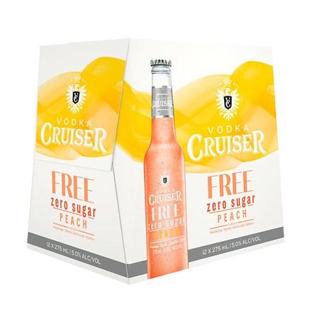 CRUISER zero sugar peach - 12pk btls CRUISER zero sugar peach - 12pk btls