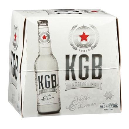 KGB 5% Lemon Ice 12pk Bottles 330ml KGB 5% Lemon Ice 12pk Bottles 330ml