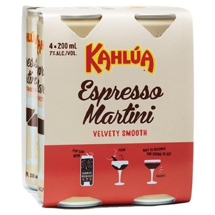 KAHLUA ESPRESSO MARTINI 4PK CANS KAHLUA ESPRESSO MARTINI 4PK CANS