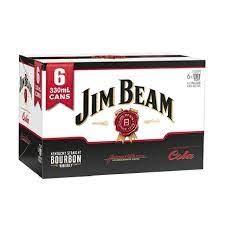 JIM BEAM 5% 6PK CANS COLA JIM BEAM 5% 6PK CANS COLA
