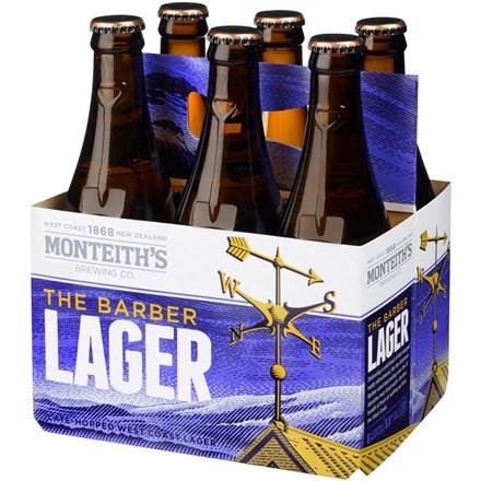 MONTEITHS BARBER LAGER 6PK MONTEITHS BARBER LAGER 6PK