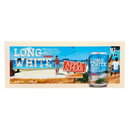 LONG WHITE APPLE & PEAR 10PK CANS LONG WHITE APPLE & PEAR 10PK CANS