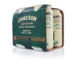 JAMESON SMOOTH DRY AND LIME 6.3% 4 PACK CAN JAMESON SMOOTH DRY AND LIME 6.3% 4 PACK CAN