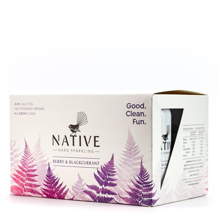 NATIVE BERRY & BLACKCURRENT 6 X 330ML CANS NATIVE BERRY & BLACKCURRENT 6 X 330ML CANS