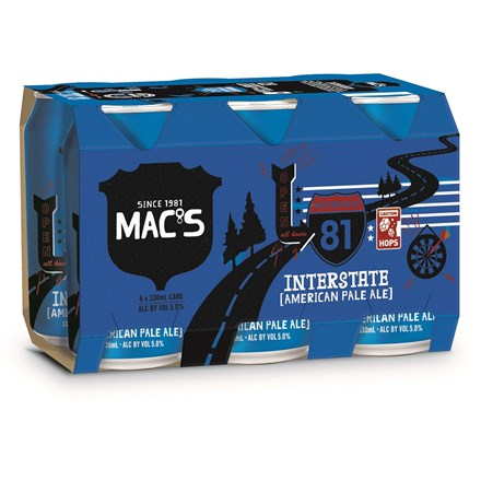 Macs Interstate 4x6PK 330ml Macs Interstate 4x6PK 330ml