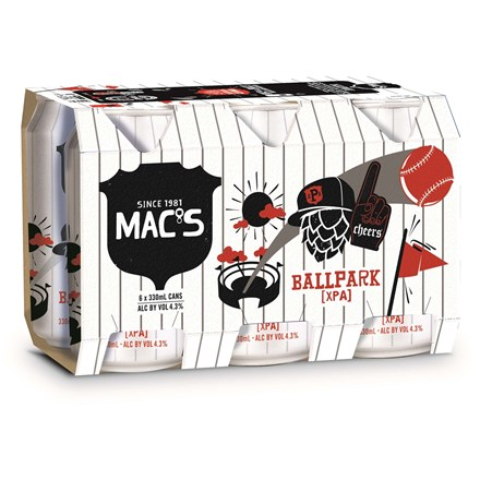Macs Ballpark 4x6pk 330ml Macs Ballpark 4x6pk 330ml