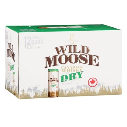WILD MOOSE & DRY CAN 7% 12X250ML WILD MOOSE & DRY CAN 7% 12X250ML