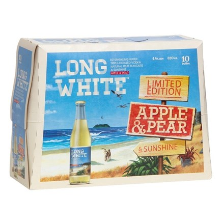 LONG WHITE APPLE & PEAR 10PK BTLS LONG WHITE APPLE 10PK