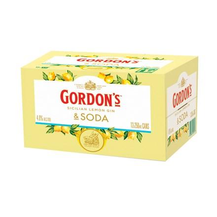 GORDONS SICILIAN LEMON 12X330ML CANS GORDONS SICILIAN LEMON 12X330ML CANS
