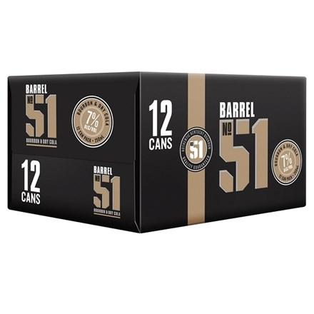 Barrel 51 7% Bourbon & Cola 12pk Cans 250ml Barrel 51 7% Bourbon & Cola 12pk Cans 250ml