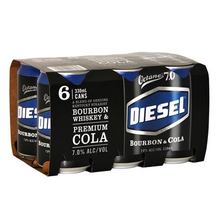 DIESEL & COLA 7% CANS 6 X 330ML DIESEL & COLA 7% CANS 6 X 330ML