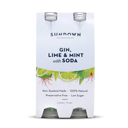 SUNDOWN GIN LIME&MINT WITH SODA 4PK SUNDOWN GIN LIME&MINT WITH SODA 4PK