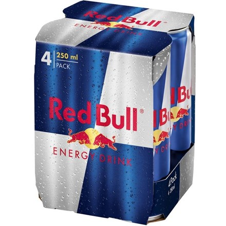 RED BULL ENERGY 4X25OML CANS RED BULL ENERGY 4X25OML CANS